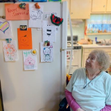 Meals on Wheels Client with Handmade Cards