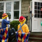 Macy's Parade Clowns Deliver Meals